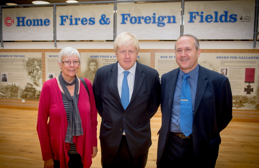 Boris with the Uxbridge South Councillors at Uxbridge Library